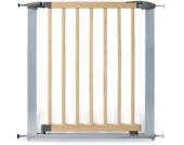 Türschutzgitter Holz/Metall Baby Lock Comfort, 73 - 82,5 cm, Buche/silber