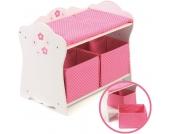 Bayer Chic 2000 Puppenwickeltisch Fiori (Wei�-Rosa) [Kinderspielzeug]
