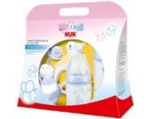 NUK 10260194 - Baby Blue Startset mit zwei Trinkflaschen, zwei Beruhigungssaugern und einer Schmetterlingsrassel