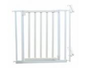 Roba 1548W - Treppenschutzgitter, Holz/Metall, weiß, Verstellbreite 81-90 cm, Gesamthöhe 76.5 cm, erweiterbar durch Anbauteil