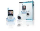 König HC-BM50 2,4 GHz Funk-Babyfon mit Digitalkamera weiß/blau
