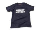 Cheeky Monkey Baby – Marineblau (Navy Blue) Tee Shirt, 12 – 18 Monate