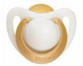 NUK 10171042 Latex Beruhigungssauger (Schnuller) Genius Extrasoft, mehr Freiraum, versenkter Greifring, Größe 1 (0-6 Monate), BPA-frei, 1 Stück, gold