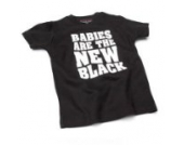 Babies Are the new – Schwarz (Black) Baby – Blanc (weiß) Tee Shirt, 12 – 18 Monate