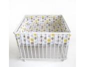 Schardt 020150002 062 Laufgitter Basic lackiert inklusiv Einlage Spot olive, 100 x 100 cm, weiß