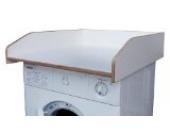 Wickeltischaufsatz weiß, aus echtem Birkenholz, Wickelfläche 60x70cm, Wickelauflage, Wickelkommode, Aufsatz für Waschmaschine oder Trockner, komplett montiert