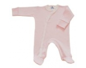 BabywearUK Body Schlafanzug Quer Pink Gestreift- British Made