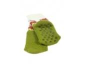 Weri Spezials Baby ABS Voll Frotee Kleiner Leopard Socke in Gruen Gr.13-14 (0-3 Monate)