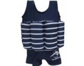 Konfidence Float Suit Badeanzug integrierter Auftrieb blau/weiß 1 - 2 Jahre Schwimmhilfe für optimale Armfreiheit NEU