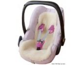 ByBoom® - Baby Lammfellauflage, Universal für Babyschale, Autokindersitz, z.B. für Maxi-Cosi, Römer, für Babybett, Kinderwagen o. Buggy; 100% MERINOWOLLE