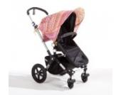 Sonnenschutz Sonnendach Sonnensegel Sonnenverdeck Sonnette® single UPF 80+ für Kinderwagen Libertine orange