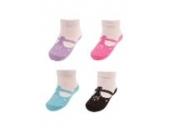 Babysocken Socken 4 Paar Söckchen im Geschenkbox von 0-6 Monate Ballerina