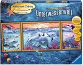 Malen nach Zahlen Premium - Farbenfrohe Unterwasserwelt, 100x40 cm