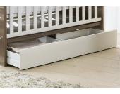Unterbett-Schublade, Schubkasten für die Babymöbel Serien Nick und Usedom, in weiß matt