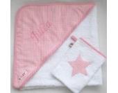 Baby Bade-Set weiß/rosa von Glückspilz