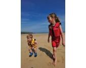 Kinder-Schwimmweste aus Neopren, Rot/Gelb Red/Yellow, Konfidence Jacket Größe 4-5 Jahre: 16-21 kg, Brustumfang ca. 61 cm