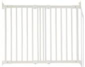 Baby Dan Flexi Fit Holz super flexibles Schutzgitter für Türen und Treppen, 69-106.5 - dänisches Design, hergestellt in Europa, Farbe: Weiß