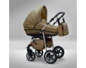 Akjax Fobos 3in1 - Kombikinderwagen - Kinderwagen - Buggy - Babyschale - Nr.33 sand / sand