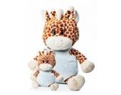 Kuscheltier Giraffe XL 60cm waschbar für Baby ab 0 Monaten // Plüschtier Stofftier Geschenk Geburt Taufe Babyparty Junge hell blau