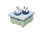 Trousselier 95012 Dreh-Spieluhr Mädchen und Panda, mehrfarbig